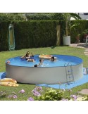 Piscina TRENCADÍS CIRCULAR 350x90 cm Filtro cartucho 2 m³/h. piscina desmontable