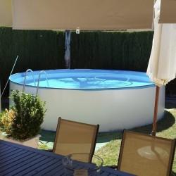 Piscina ÉTNICA OVALADA 915x457x120 cm Filtro 6 m³/h. piscinas desmontables