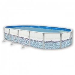 Piscina CAMUFLAJE OVALADA 640x366x120 cm Filtro 3,6 m³/h. piscinas desmontables