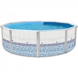 Piscina CAMUFLAJE CIRCULAR 450x90 cm Filtro cartucho 2 m³/h. piscinas desmontables