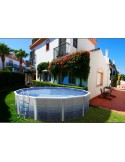 Piscina CAMUFLAJE CIRCULAR 400x90 cm Filtro cartucho 2 m³/h. piscinas desmontables