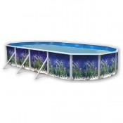 Piscina BOSQUE CIRCULAR 460x120 cm Filtro 3,6 m³/h. piscinas desmontables