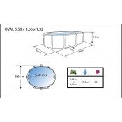 Kit Verano 400 cm piscina desmontable circular