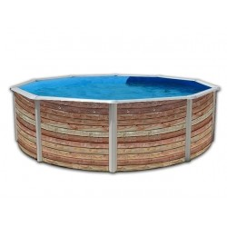 Piscina PINUS CIRCULAR 350x90 cm Filtro cartucho 2 m³/h. piscina desmontable
