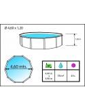 PRESTIGIO CIRCULAR 350x120 cm - Filtro 6 m³/h piscinas desmontables