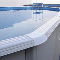 PRESTIGIO OVALADA 550x366x120 cm Filtro 8 m³/h piscinas desmontables