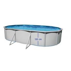 piscina IBIZA OVALADA 550x366x132 cm Filtro 6 m³/h