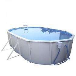 piscina IBIZA OVALADA 640x366x132 cm Filtro 6 m³/h