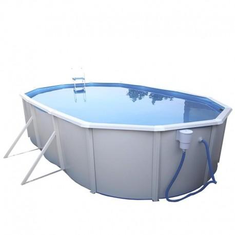 piscina IBIZA OVALADA 640x366x132 cm Filtro 6 m³/h piscinas desmontables