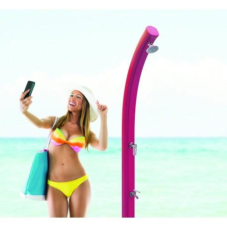 SILLA PLEGABLE DE ALUMINIO CRESPO MORADO 31 cm. compact MORADO para piscina y playa