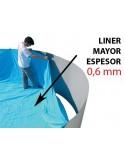 SILLA PLEGABLE DE ALUMINIO CRESPO AZUL RAYAS 41cm para piscina y playa