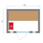 MANO flotador hinchable 1,37 x 0,87 m para piscina y playa