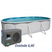 Base 460x120 piscina desmontable ovalada
