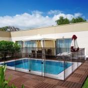 DECORACION BOSQUE exterior piscina desmontable