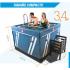 Liner de mayor espesor para piscina ovalada de 120cm