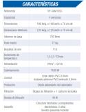 PRESTIGIO OVALADA 640x366x120 cm Filtro 8 m³/h piscinas desmontables