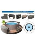 MAGNUM COMPACTA CIRCULAR 460x132 cm Filtro 3,6 m³/h piscinas desmontables