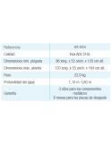 MALLORCA ovalada + Kit verano 640x366x120 cm Filtro 3,6 m³/h piscinas desmontables