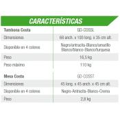 MALLORCA ovalada + Kit verano OLIMPICA 1200x457x120 cm Filtro 10 m³/h