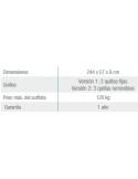 Piscina ELEGANCE CIRCULAR 550x120 cm Filtro 3,6 m³/h piscinas desmontables