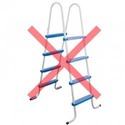 Escalera de 8 peldaños, altura 145 cm, para piscinas desmontables de 120 y 132 cm