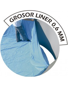 Piscina LUNA ovalada 550x366x120 cm BLANCA skimmer filtrante 3,6 m³/h piscinas desmontables