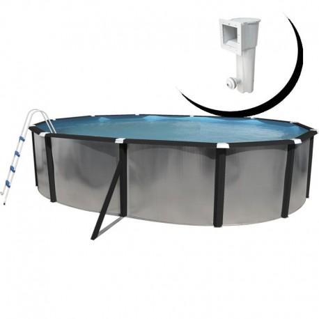 Piscina BOSQUE OVALADA 915x457x120 cm Filtro 6 m³/h. piscinas desmontables