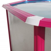 Piscina BOSQUE CIRCULAR 400x90 cm Filtro cartucho 2 m³/h. piscinas desmontables