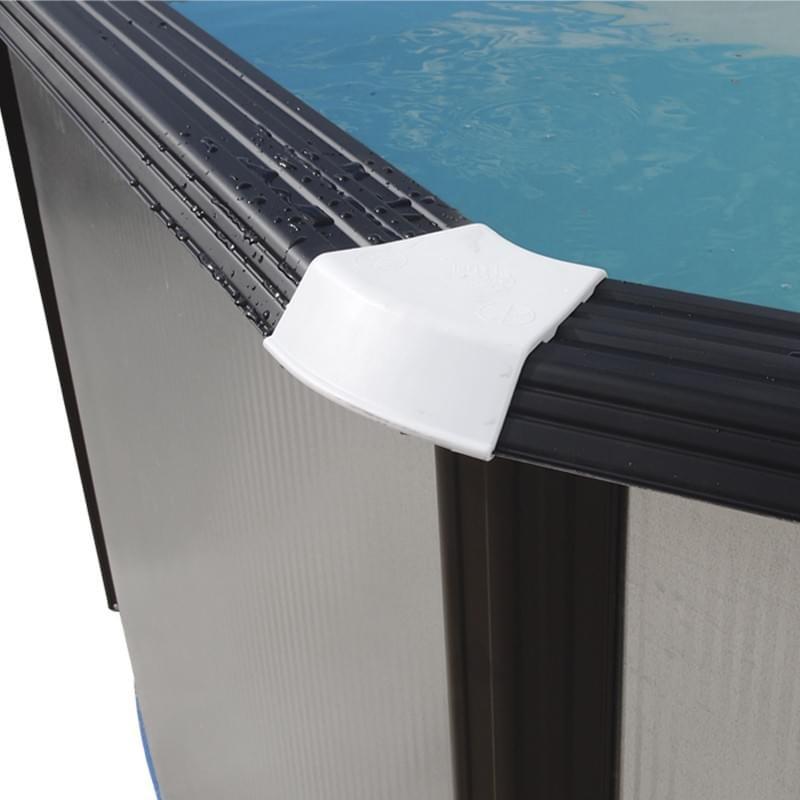 Piscina mosaico ovalada 915x457x120 cm filtro 6 m h for Filtro piscina desmontable
