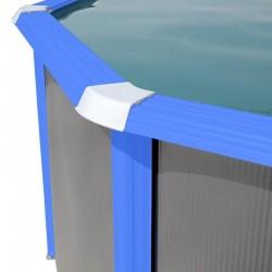 Piscina MOSAICO OVALADA 730x366x120 cm Filtro 3,6 m³/h. piscinas desmontables