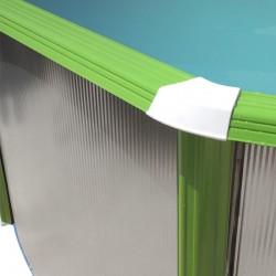 Piscina MOSAICO OVALADA 640x366x120 cm Filtro 3,6 m³/h.