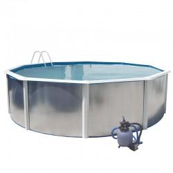 Piscina MURO ROCALLA 915x457x120 cm Filtro 6 m³/h. piscinas desmontables