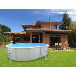 Piscina ROCALLA CIRCULAR 350x90 cm Filtro cartucho 2 m³/h. piscinas desmontables