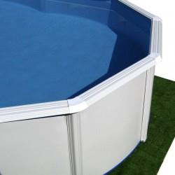 Piscina PIEDRA GRIS CIRCULAR 640x120 cm Filtro 6 m³/h. piscinas desmontables
