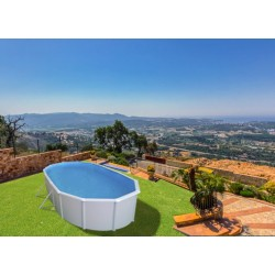 Piscina PIEDRA GRIS CIRCULAR 350x120 cm Filtro 3,6 m³/h. piscinas desmontables