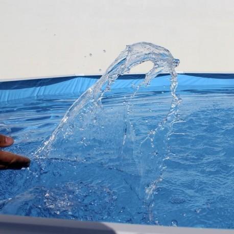 Piscina PIEDRA GRIS CIRCULAR 450x90 cm Filtro cartucho 2 m³/h. piscinas desmontables