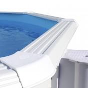 Piscina PIEDRA GRIS CIRCULAR 350x90 cm Filtro cartucho 2 m³/h. piscinas desmontables