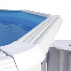 Piscina OCÉANO CIRCULAR 640x120 cm Filtro 6 m³/h. piscinas desmontables