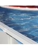 Piscina OCÉANO CIRCULAR 350x90 cm Filtro cartucho 2 m³/h. piscinas desmontables