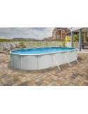 Piscina MURO OVALADA 730x366x120 cm Filtro 3,6 m³/h. piscinas desmontables