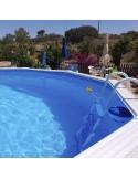 Piscina TRENCADÍS OVALADA 550x366x120 cm Filtro 3,6 m³/h. piscinas desmontables