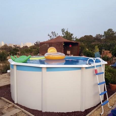 Piscina TRENCADÍS CIRCULAR 550x120 cm Filtro 3,6 m³/h. piscina desmontable