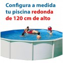 REDONDA 120 cm alto - PISCINA DESMONTABLE configuración a medida