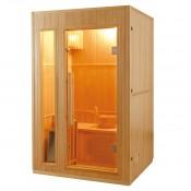 Sauna tradicional con vapor