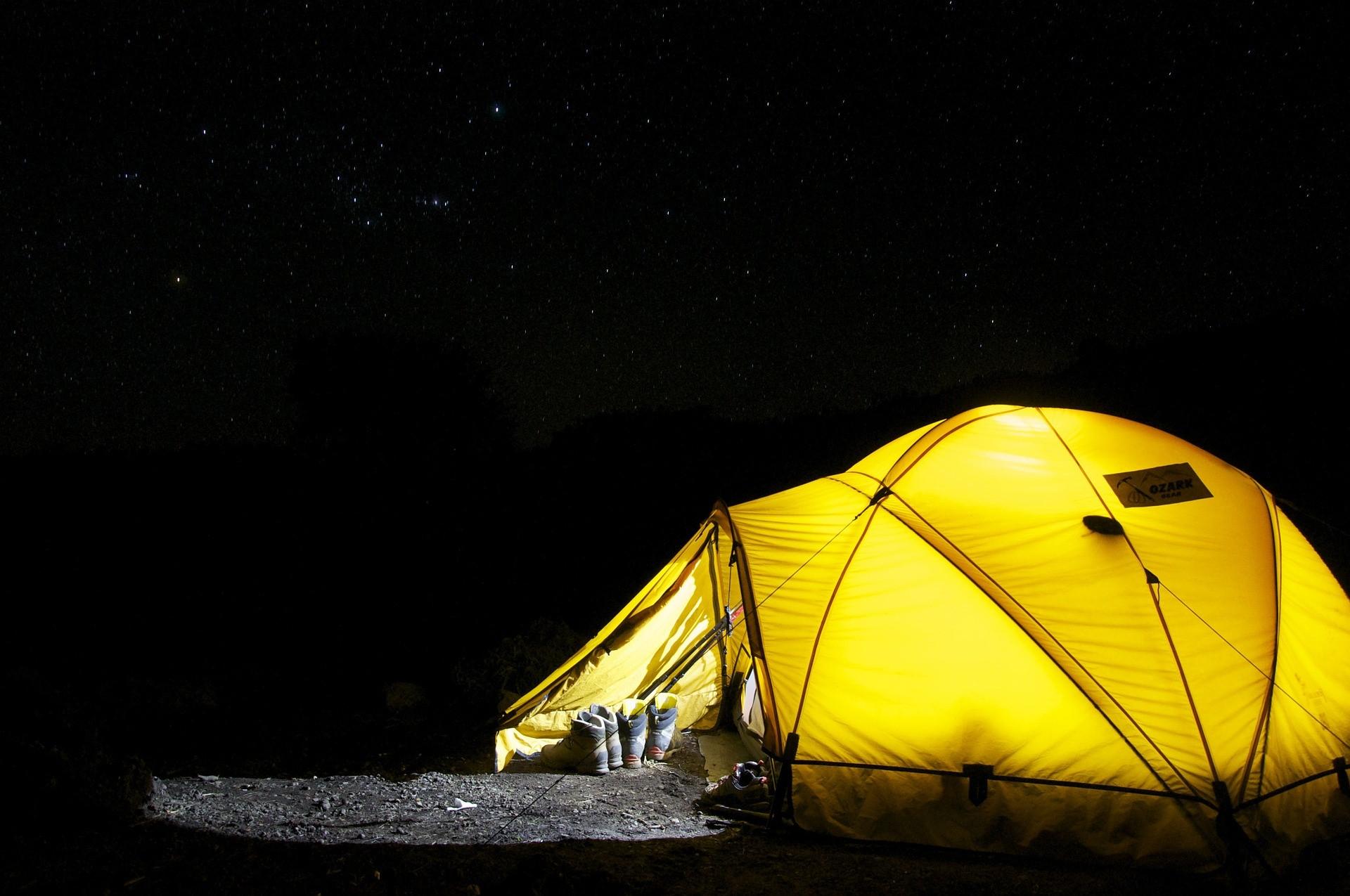 Ir de camping en el jardín es una muy buena idea también