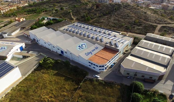 Piscinas Toi vista aérea de la fábrica