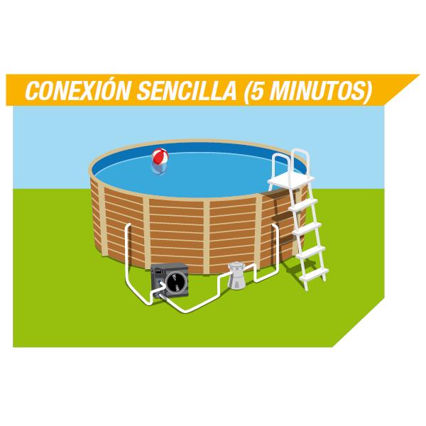 Calienta el agua de tu piscina con una bomba de calor